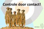 Controle door contact